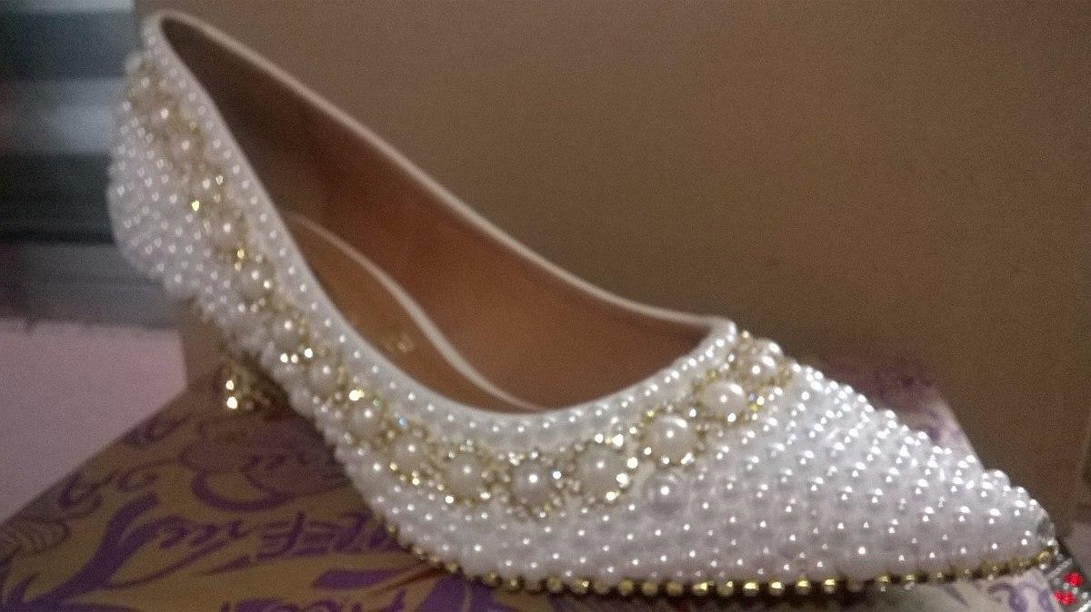 a3c9c0d5ae6 sapato pérola-strass noiva festa debutante personalizado. Carregando zoom.