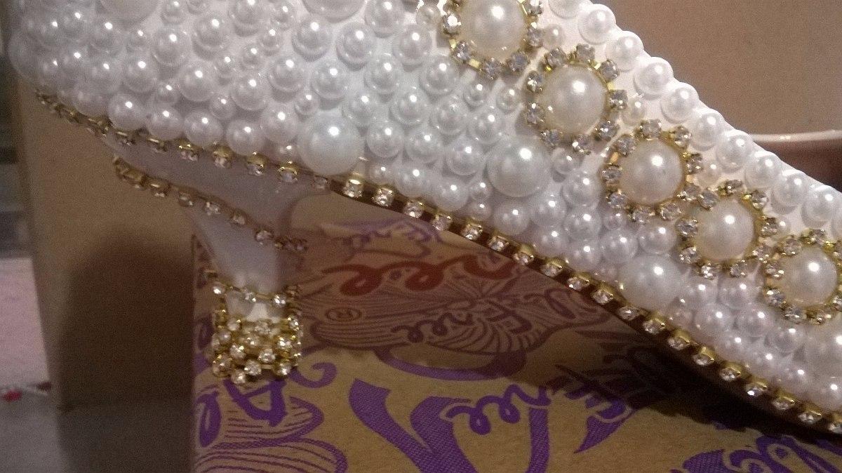 b81baba241 Sapato Pérola-strass Noiva/festa/debutante Personalizado - R$ 300,00 ...