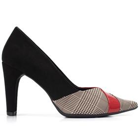 920aff0e85 Sapato Sem Cadarço Xadrez Scarpins - Calçados