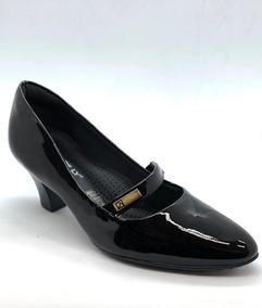 5362ce0186 Sapato Piccadilly Mary Jane Salto Grosso - Sapatos no Mercado Livre ...