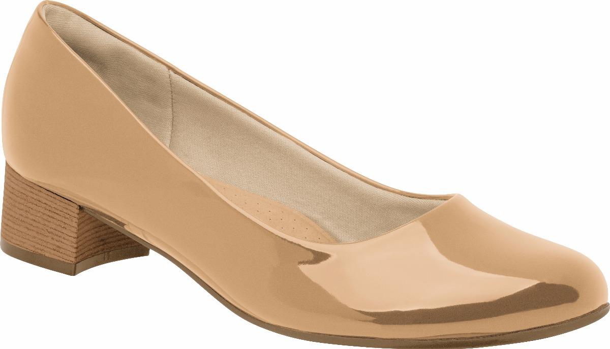 90fa6976fe4c8 Sapato Piccadilly Salto Baixo Verniz Nude - R$ 79,90 em Mercado Livre