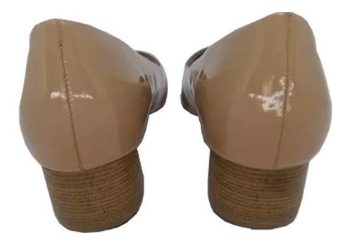 d312cfdab8 Sapato Piccadilly Salto Baixo Verniz Nude - R$ 79,90 em Mercado Livre