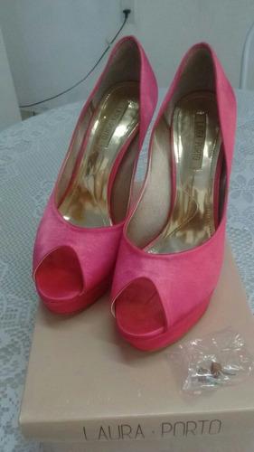 sapato pink/rosa meia pata original laura porto