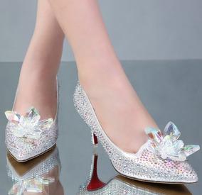 3e05afcfa Sapato De Debutante Cristal Azul - Sapatos com o Melhores Preços no Mercado  Livre Brasil