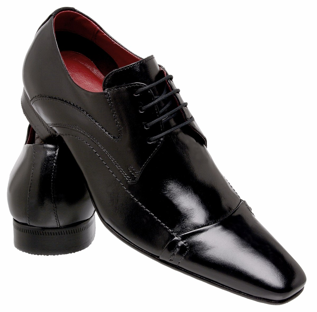 b02e76dcc1 sapato preto barato social lançamento 100% solado de couro. Carregando zoom.