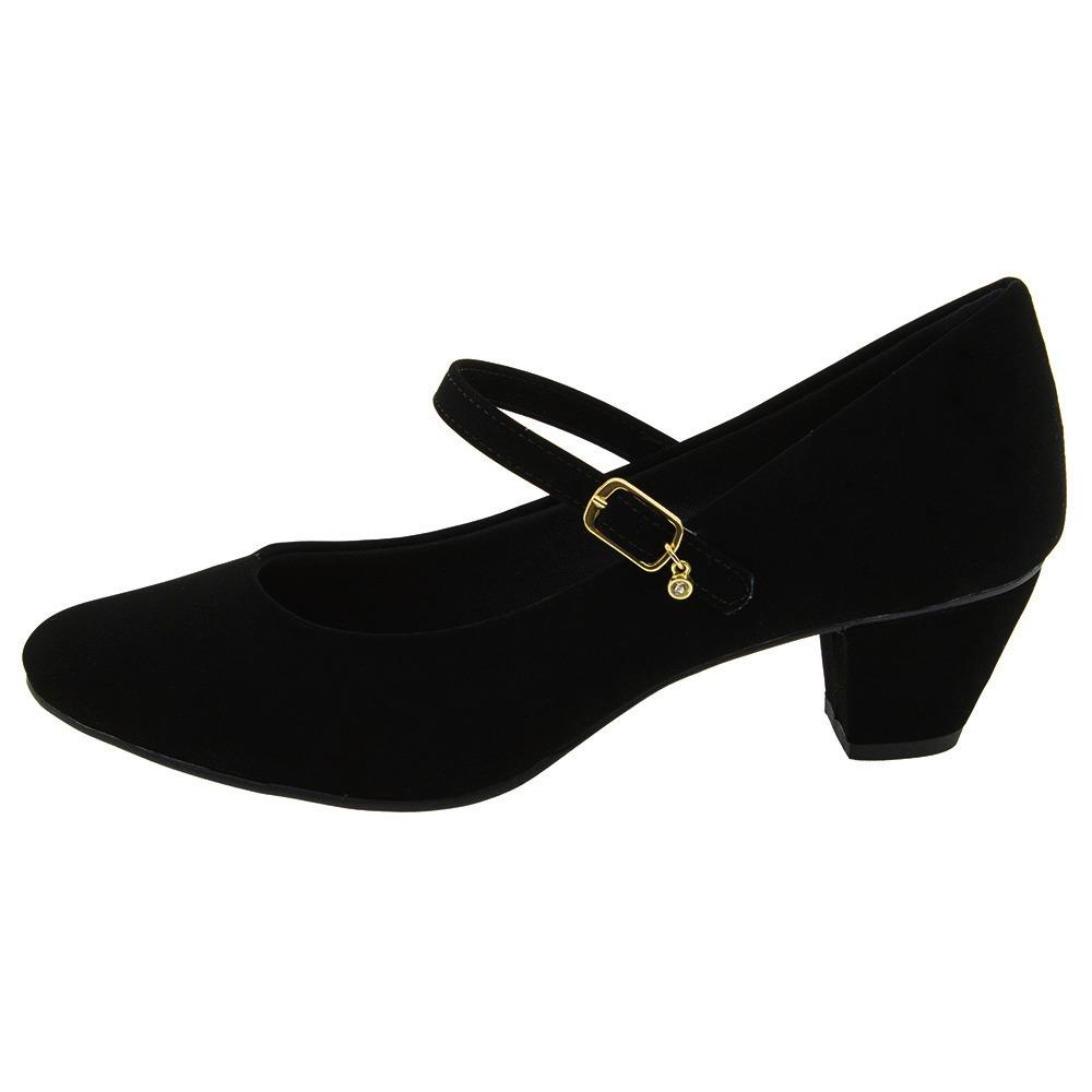 018fb6653 sapato preto boneca feminino social salto baixo medio grosso. Carregando  zoom.
