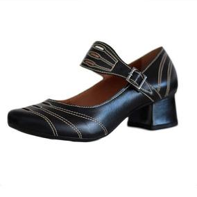 bcde2e3b8 Sapato Boneca Retro Preto - Sapatos com o Melhores Preços no Mercado Livre  Brasil