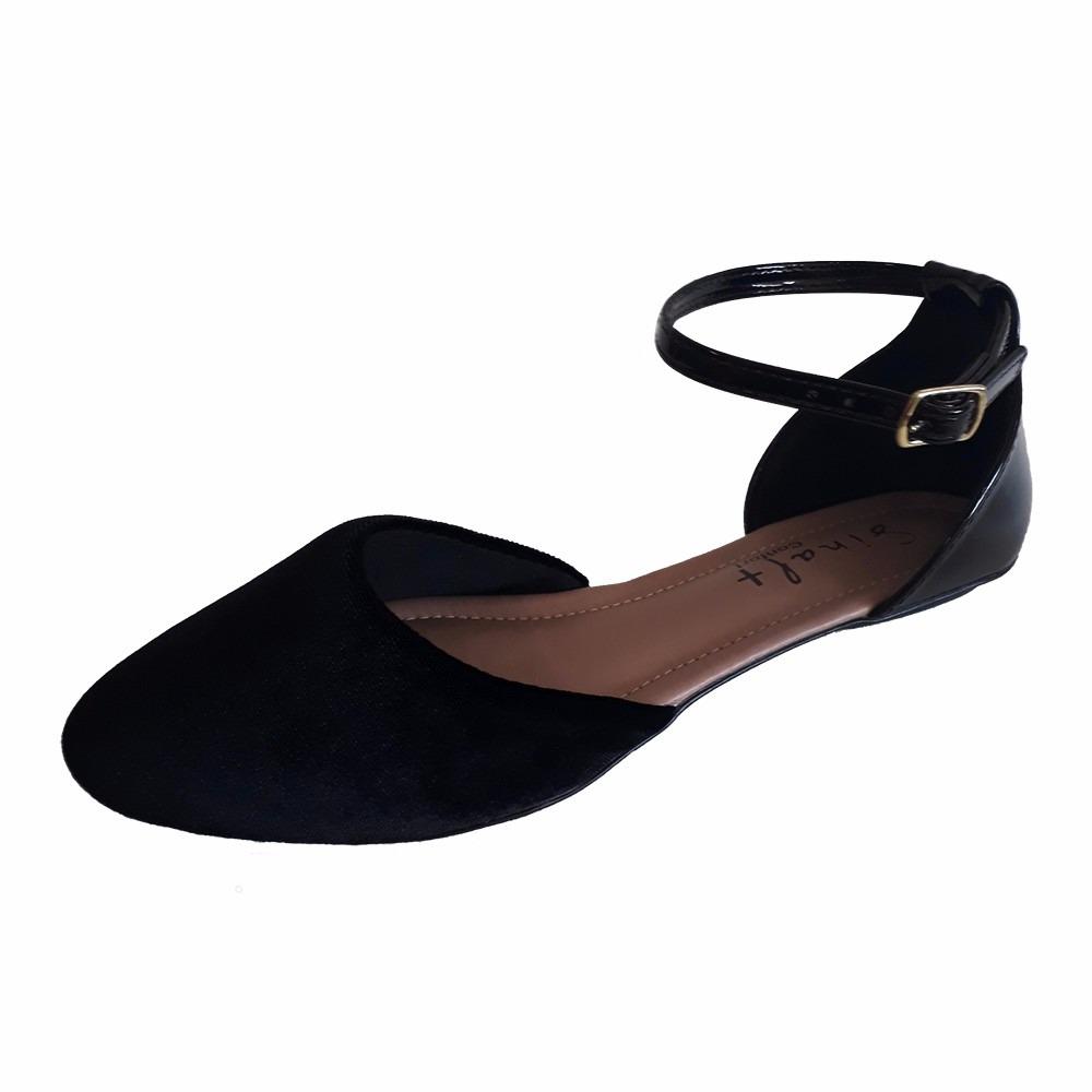 57fac3feca sapato preto feminino boneca social salome bico fino. Carregando zoom.