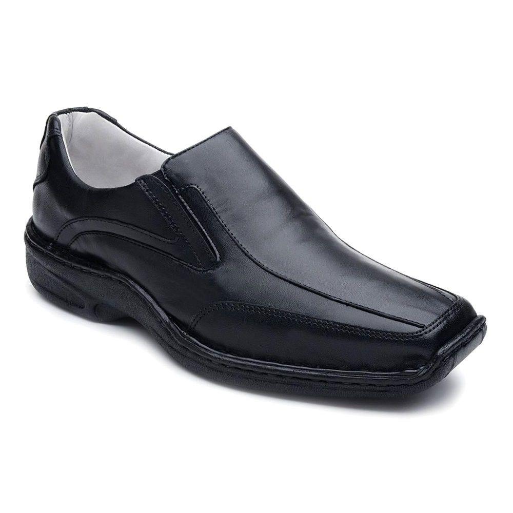 f3d5bf454 sapato preto masculino conforto palmilha gel sola borracha. Carregando zoom.