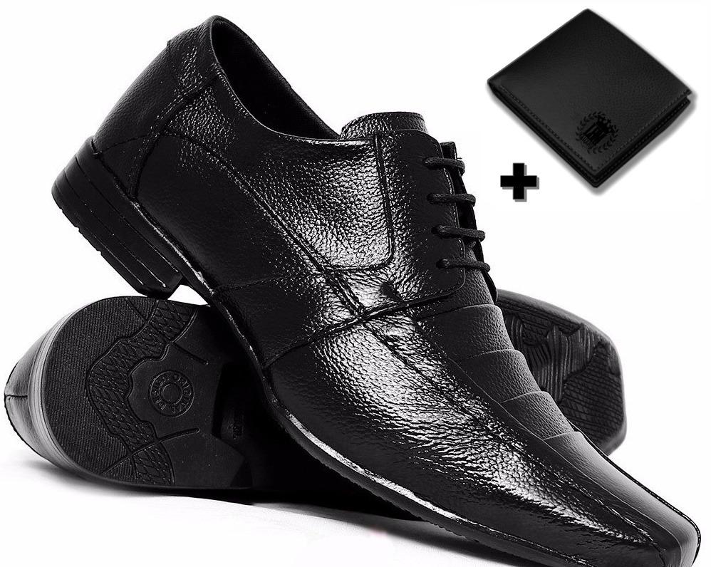b48b23796 sapato preto masculino social + carteira brinde black friday. Carregando  zoom.