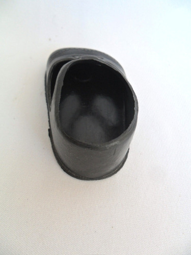 sapato preto sapatinho para bonecas muito antigo pé direito