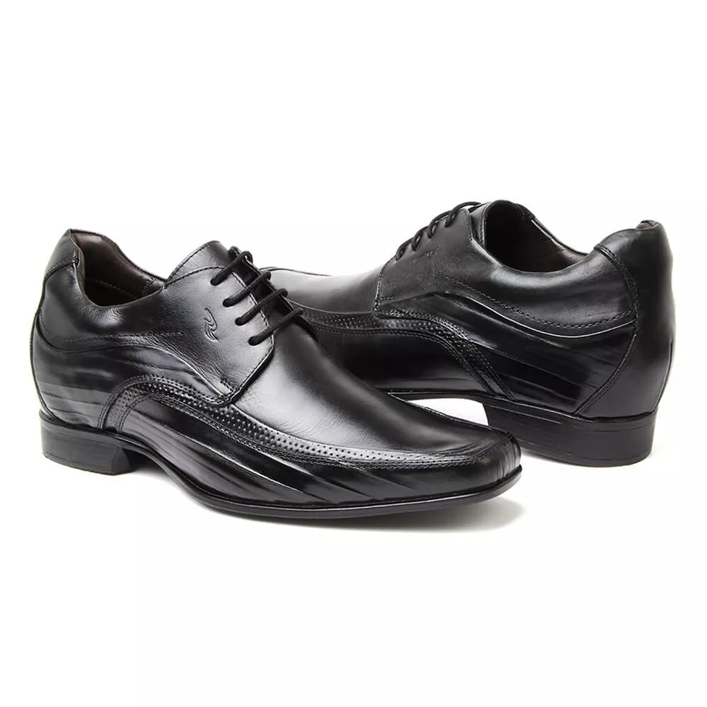 268b82cc33f sapato rafarillo vegas alth você + alto 7cm 3206 couro preto. Carregando  zoom.