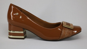 972d2dd36 Sapato Ramarim Total Confort Verniz Bico Quadrado Marrom - 3