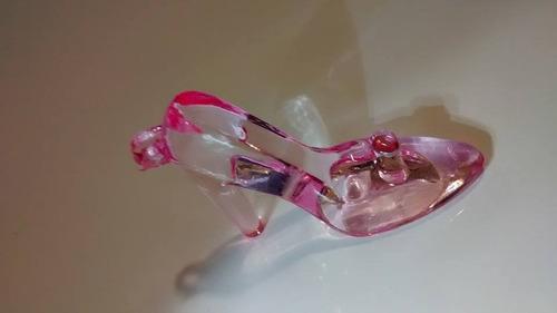 sapato rosa de acrilico  3cm 20 pcs