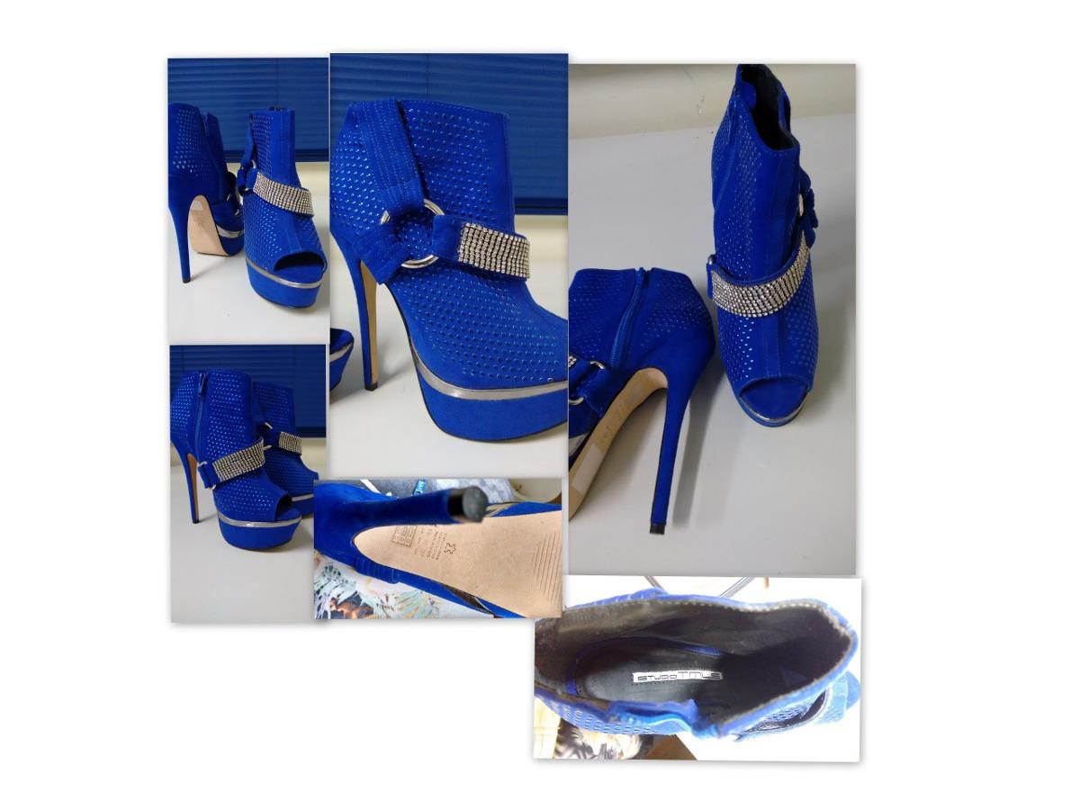 cae879b8f9 sapato salto alto feminino azul prata com pedras 35 fino. Carregando zoom.