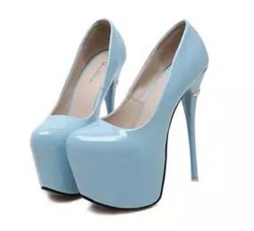 2b3f2fe96f Sapato Salto Alto Feminino Salto 16 Cm - Frete Grátis