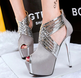 566bd6a72 Sandalia Salto Alto Importada Luxo - Sapatos com o Melhores Preços no  Mercado Livre Brasil