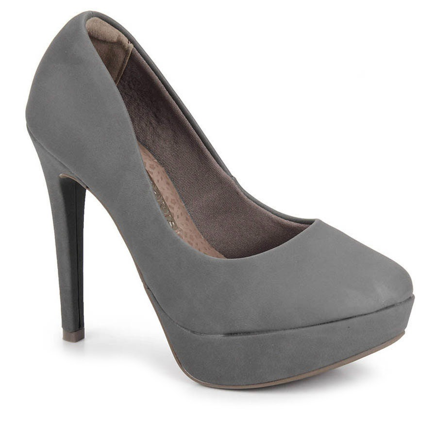 21d18ecf88 sapato salto feminino via marte - cinza. Carregando zoom.