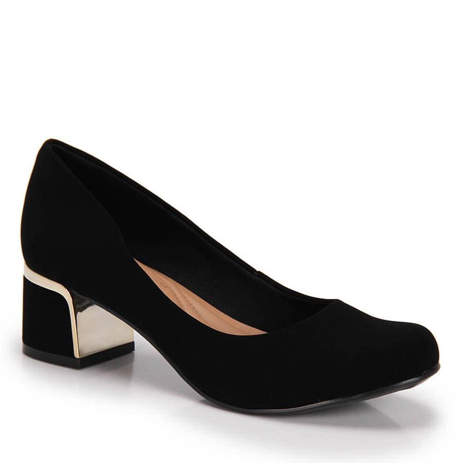 a5455e7a3 Sapato Salto Grosso Bebecê - Preto - R$ 119,99 em Mercado Livre