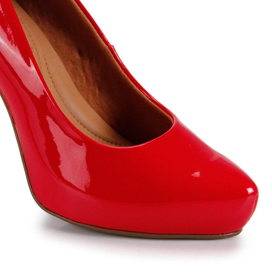 87a6367327 sapato salto grosso bebecê verniz - vermelho. Carregando zoom.