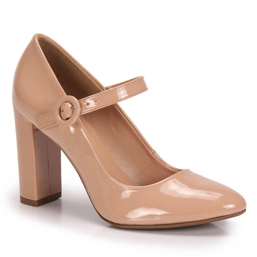 35595c122e Sapato Salto Grosso Boneca Lara - Nude - R  79