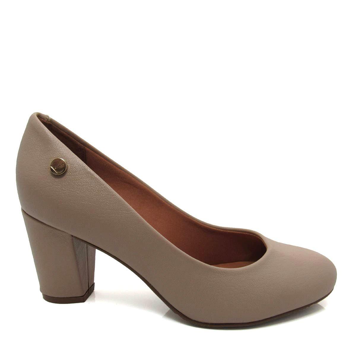 c87198a727 sapato salto grosso feminino scarpin vizzano 1259100 nude. Carregando zoom.
