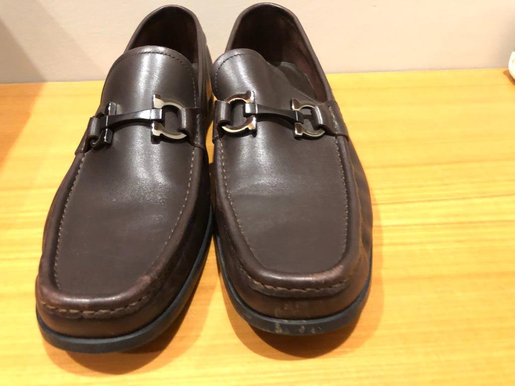 f1c89270423cc sapato salvatore ferragamo marrom. Carregando zoom.