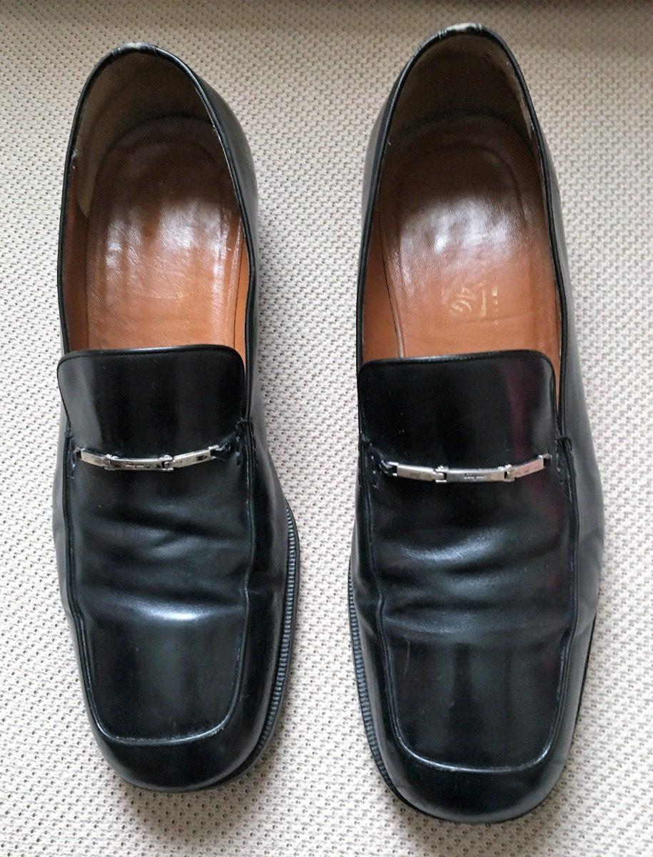 a2715cf422690 sapato salvatore ferragamo masculino couro preto 42 usado. Carregando zoom.