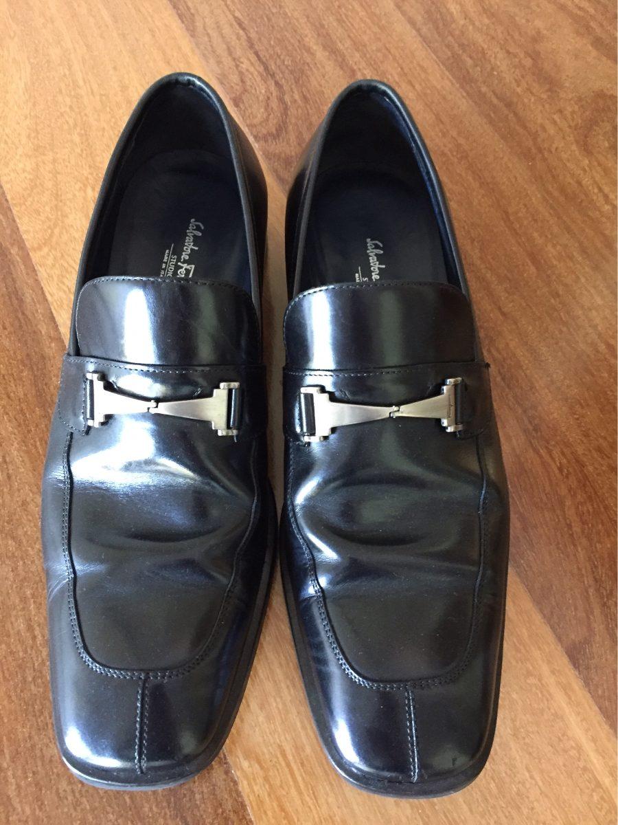 f5917c8fddd9c sapato salvatore ferragamo original preto masculino. Carregando zoom.