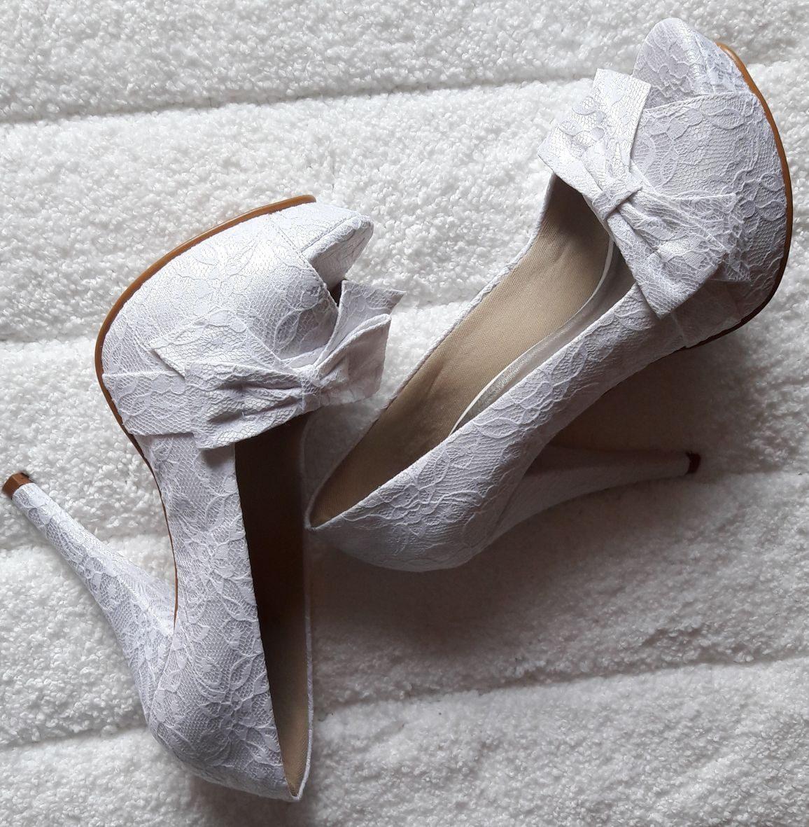 5a5f9950ae sapato sandália casamento noiva renda branca up shoes ref205. Carregando  zoom.
