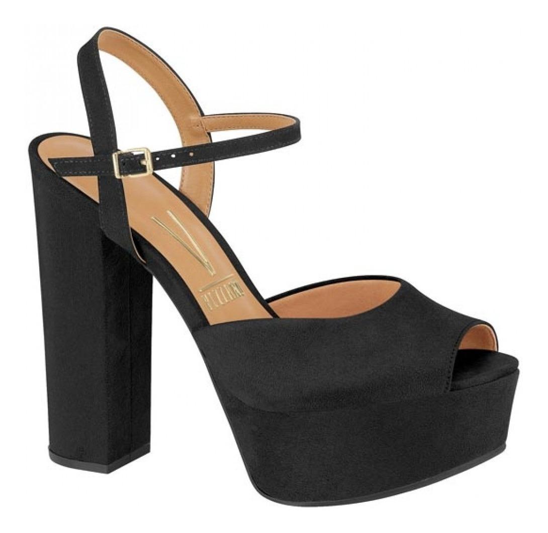 feeae72a4e sapato sandalia salto grosso meia pata vizzano preto. Carregando zoom.