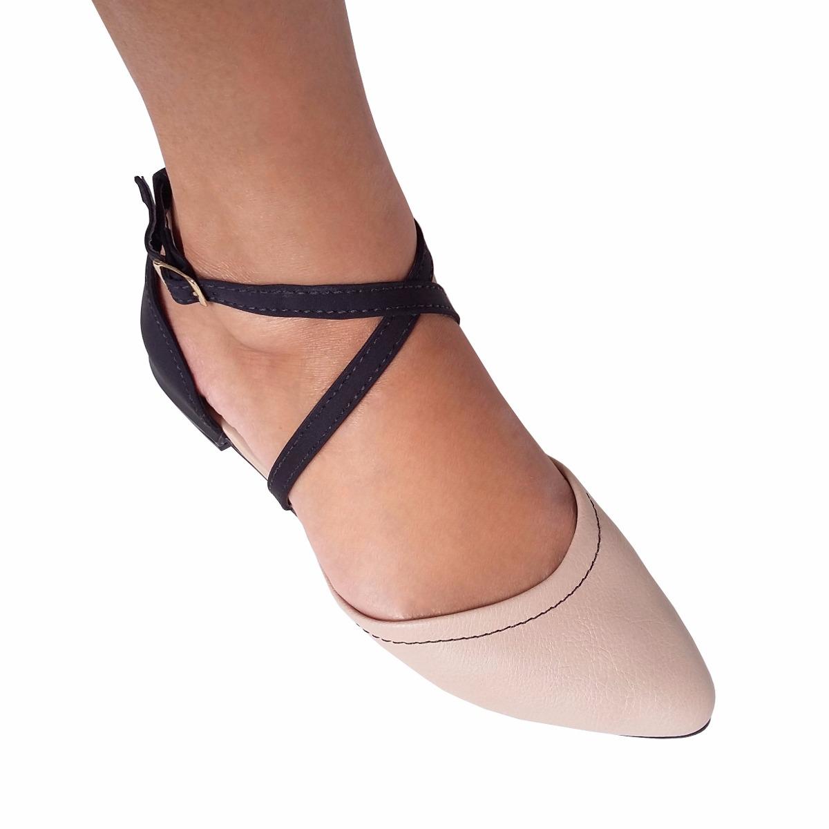35b2767ef sapato sapatilha bico fino preto nude oferta moleca social. Carregando zoom.
