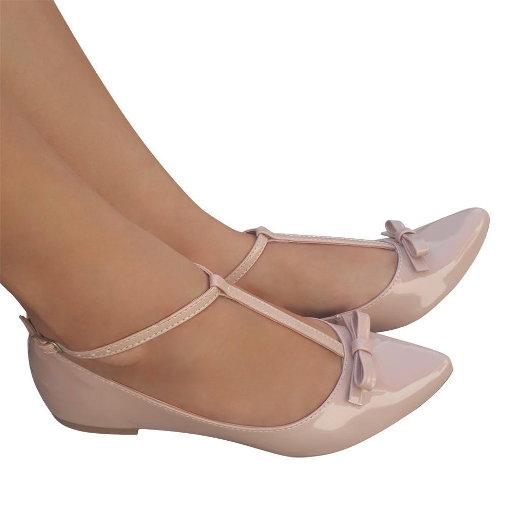 fa392ccaa6 sapato sapatilha boneca nude social laço bico fino macia. Carregando zoom.