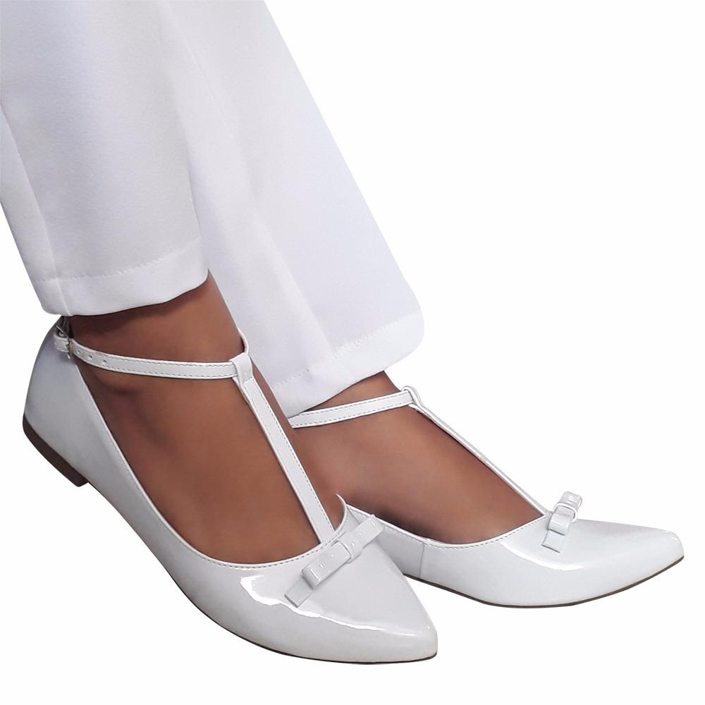 59ca9bb9f0 Sapato Sapatilha Branca Noiva Daminha Enfermagem Macia - R  85