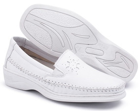 0650dad370 Sapato Branco Confort Pizaflex Em Couro Masculino - Sapatos no ...