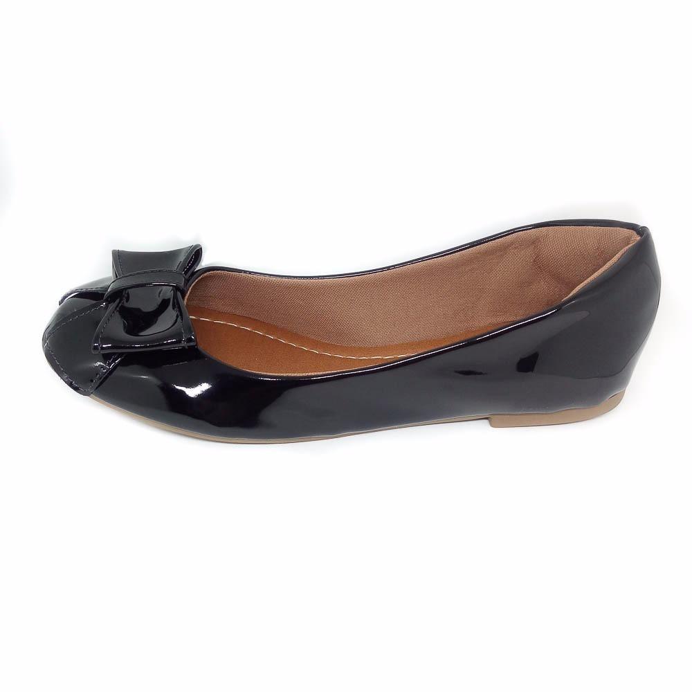 f39f810f82 sapato sapatilha feminino bico fino verniz preto boneca. Carregando zoom.