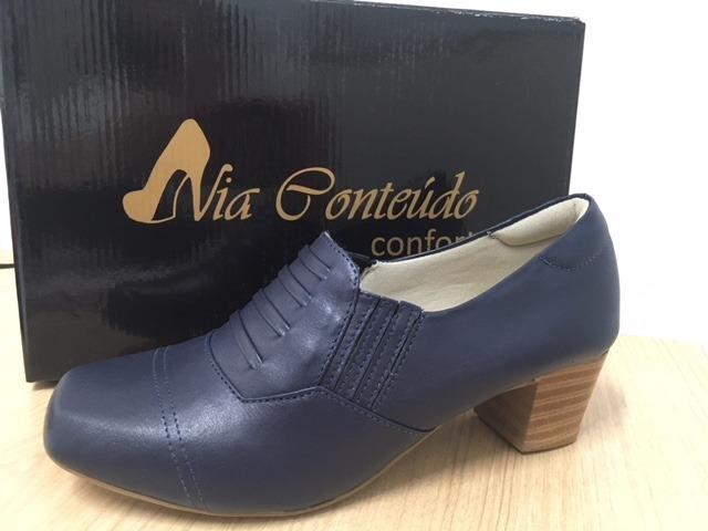 240a81940d Sapato Tenis Sapatênis Azul Marinho Feminino Via - R  140