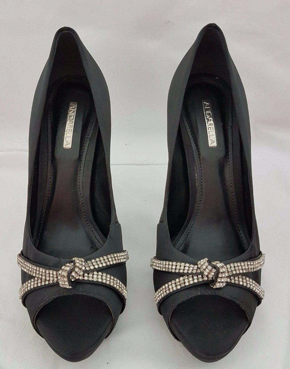8b5681604 Sapato Scarpin Andarella Fashion Preto C/ Strass Tam 35 - R$ 135,00 ...