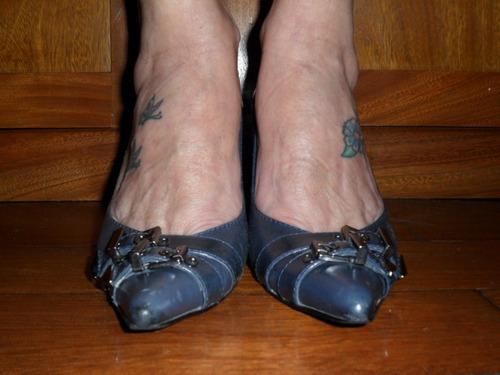603a06842f sapato scarpin arezzo. Carregando zoom... arezzo - sapato scarpin azul  marinho couro tdo forrado 36
