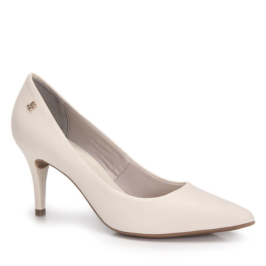 1be61f40e6 sapato scarpin bico fino bottero - marfim. Carregando zoom.