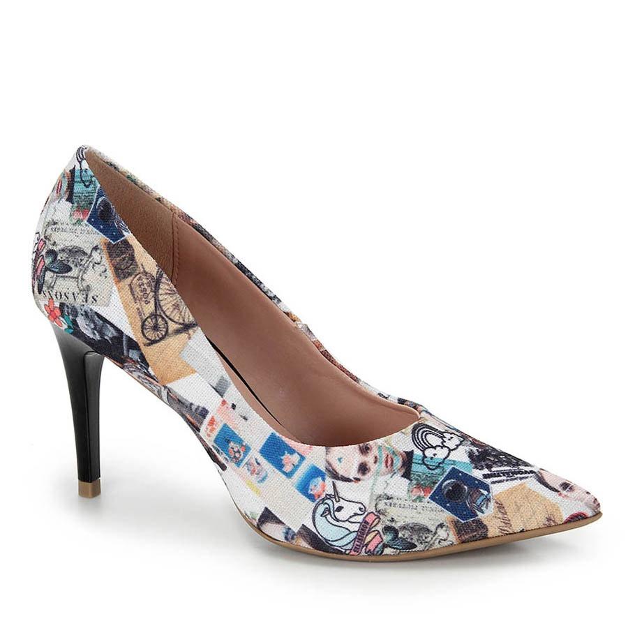 178f82b13 Sapato Scarpin Bico Fino Lara - Estampado - R  79