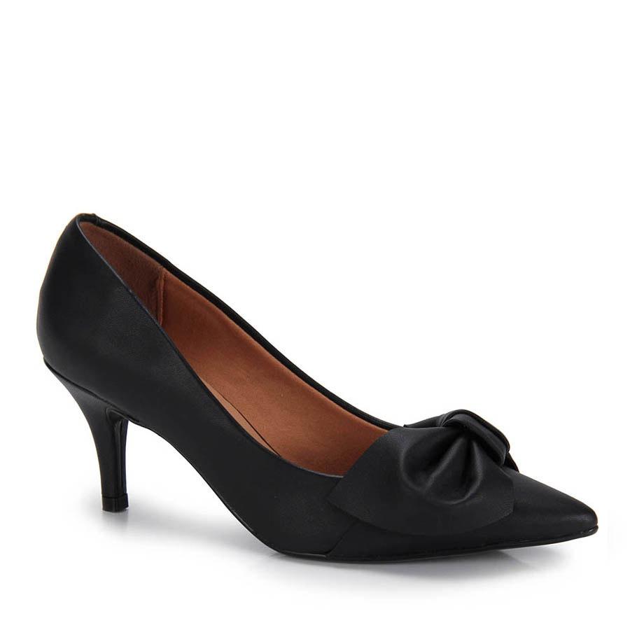 bc54fdda86 sapato scarpin bico fino vizzano laço - preto. Carregando zoom.