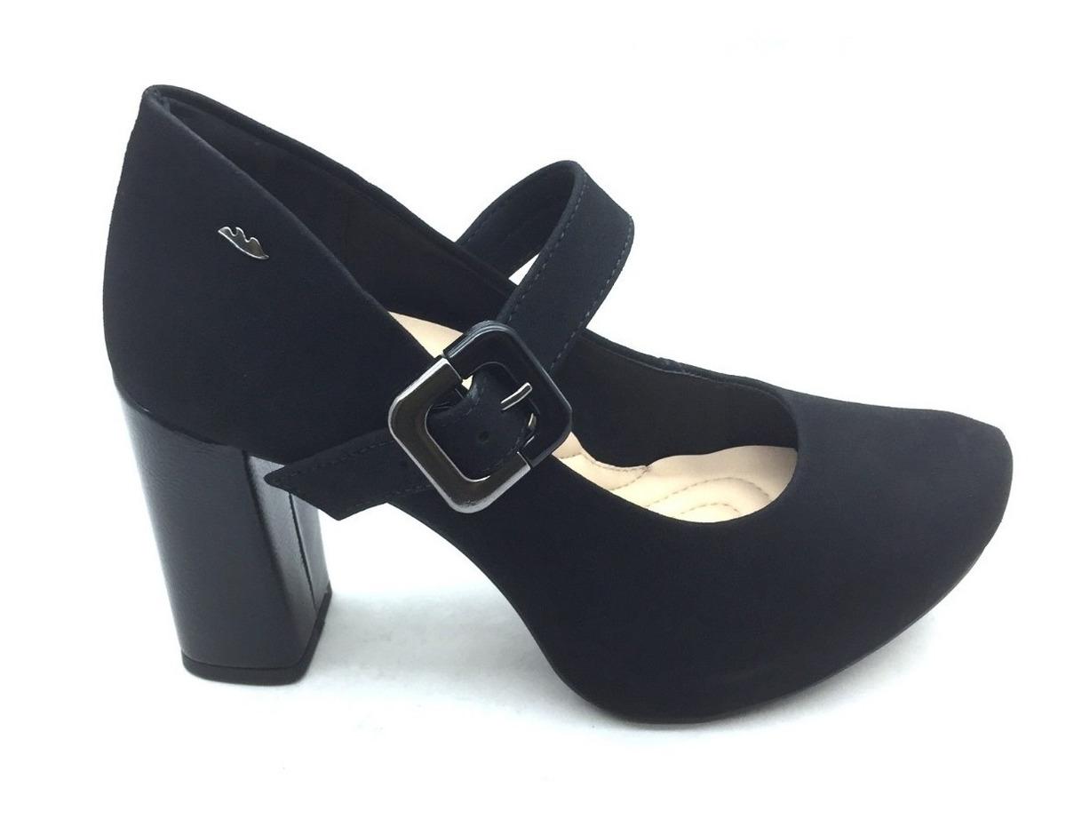 af45fb4398aae Sapato Scarpin Boneca Dakota Salto Alto Grosso Preto - R$ 206,90 em ...
