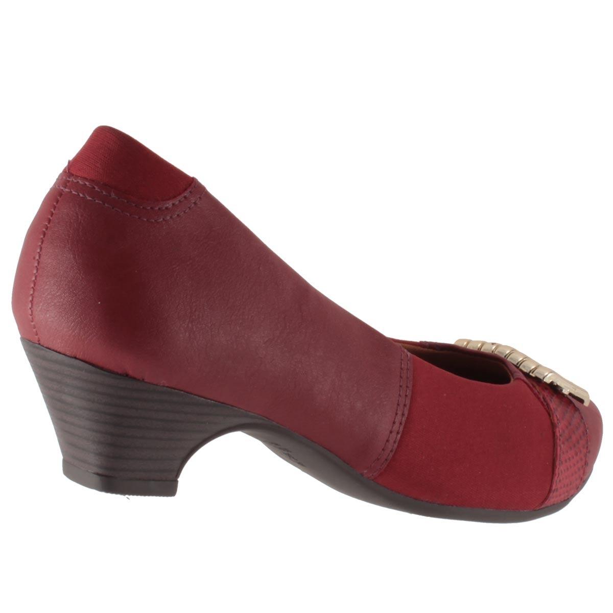 6c3152ccd6 sapato scarpin campesí salto baixo metal joanete lindo l5451. Carregando  zoom.