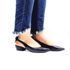 2c46a066dc Sapato Scarpin Carrano Salto Baixo Bico Fino Chanel Laço 160