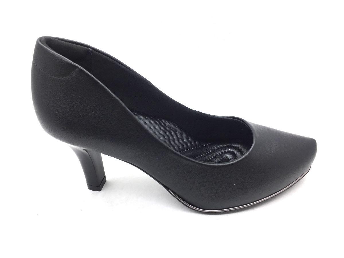 74e2fcb71 sapato scarpin comfortflex preto salto fino frete grátis. Carregando zoom.