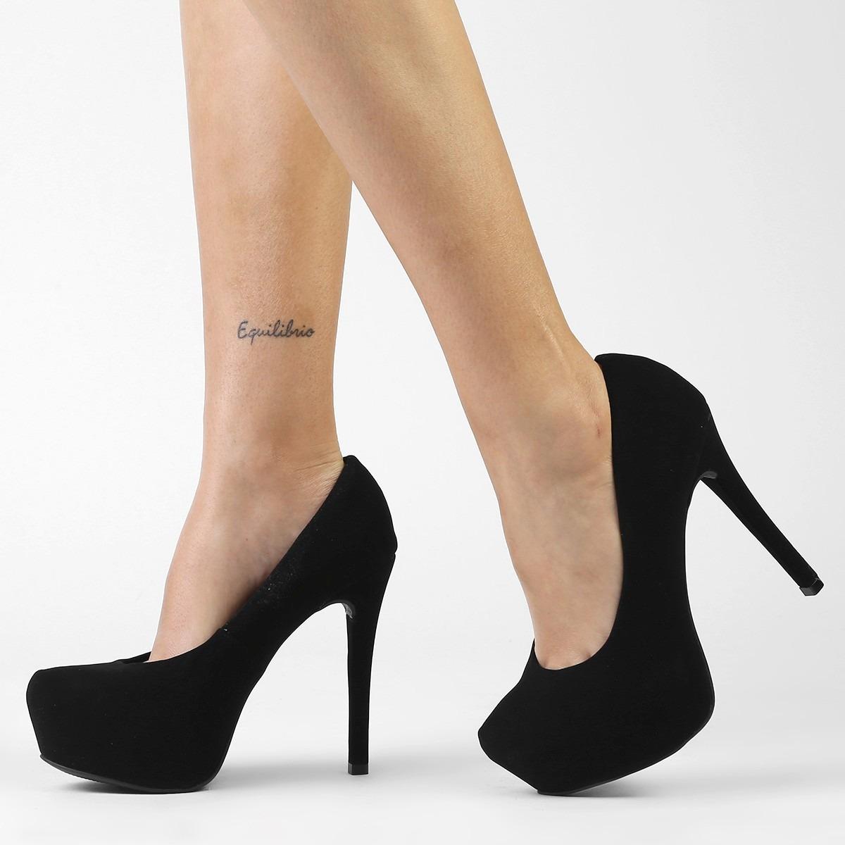 430f25482 Sapato Salto Alto Scarpin Crysalis -pronta Intrega - R  135