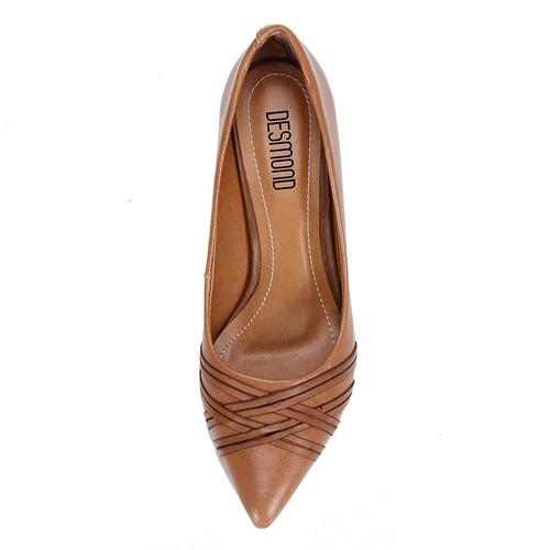 83e310d84c Sapato Scarpin Desmond - Caramelo - R  119