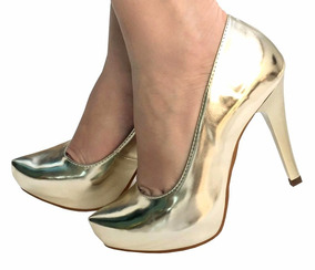 6b5abdfd2d Fornecedor Scarpin Atacado - Scarpins para Feminino Dourado no Mercado  Livre Brasil