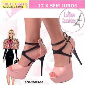 3f842a615 Sapato Da Barbie Rosa De Salto no Mercado Livre Brasil